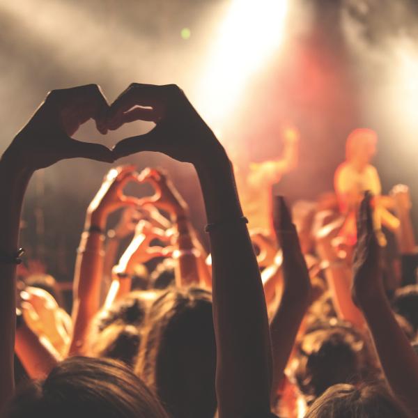 Yleisö musiikkikeikalla