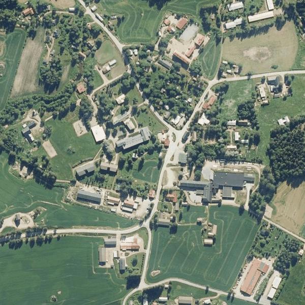 Aitoon kylän keskustan karttakuva